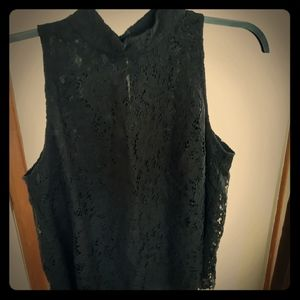 WHBM Mock Lace Top